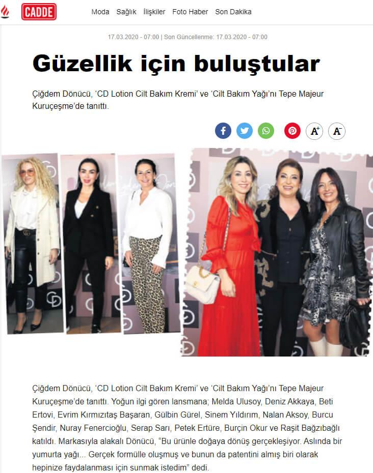 CD Lotion Tanıtımı - Milliyet - Cadde - milliyet.com.tr