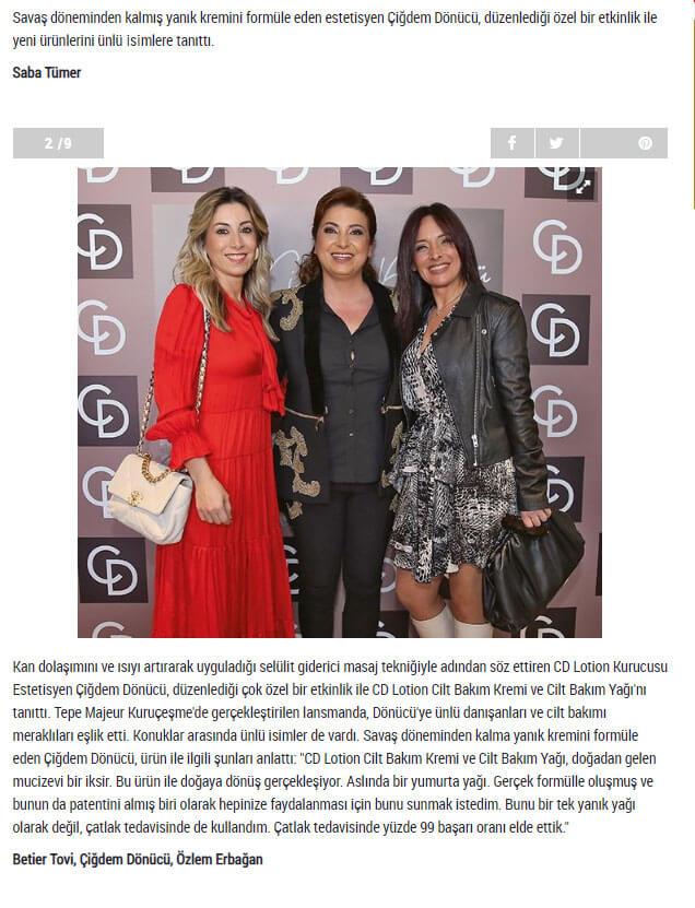 CD Lotion Tanıtımı - Şamdan - samdan.com.tr